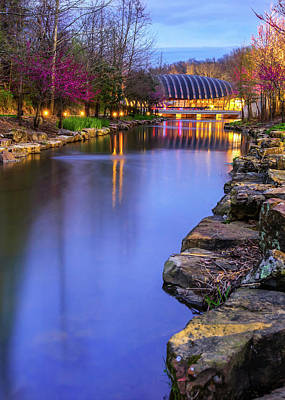 Royalty-Free and Rights-Managed Images - Northwest Arkansas Crystal Bridges Museum at Dusk by Gregory Ballos