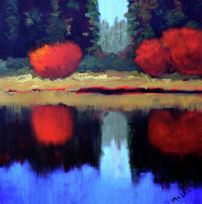 Painting - Northwest River Landscape by Nancy Merkle
