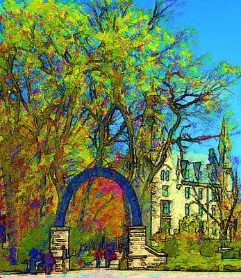Northwestern Arch  Art Print