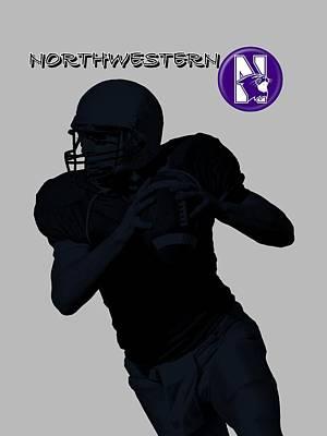 Michigan State Digital Art - Northwestern Football by David Dehner