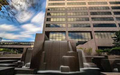 Photograph - Northwestern Mutual Waterfall by Randy Scherkenbach