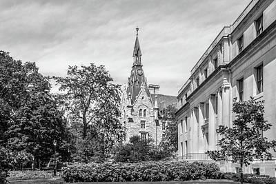 Photograph - Northwestern University Harris Hall With University Hall by University Icons