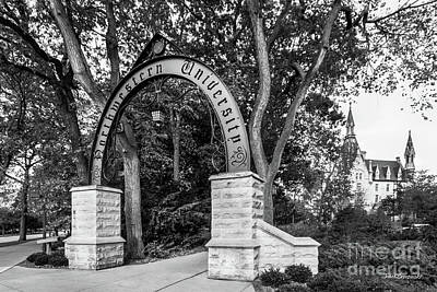 Diploma Photograph - Northwestern University The Arch by University Icons