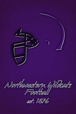 Northwestern Wildcats 2 Art Print by Joe Hamilton