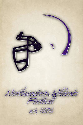 Northwestern Wildcats Art Print by Joe Hamilton