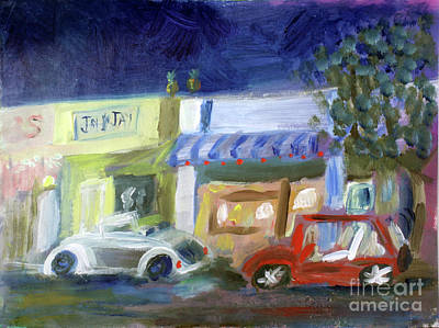 Painting - Northwood At Night by Donna Walsh