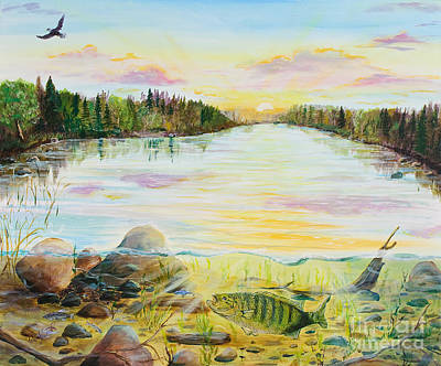 Northwoods Painting - Northwood's Bass by Wendy Smith