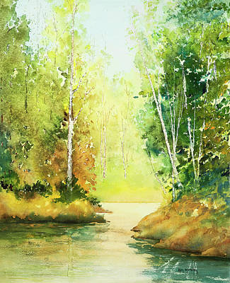 Painting - Northwoods Scene by Ken Marsden