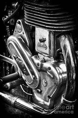 Photograph - Norton Big Four Engine by Tim Gainey