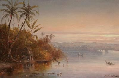 Mellow Yellow - Norton Bush 1834-1894 Tropical Sunset, 1890 by Artistic Panda