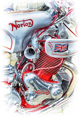Photograph - Norton Custom Motorbike by Tim Gainey