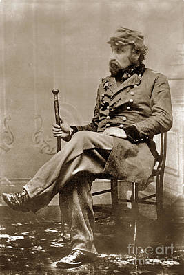 Photograph - Joshua Abraham Norton I. Emperor Of United States And Protector Of Mexico 1876 by California Views Mr Pat Hathaway Archives