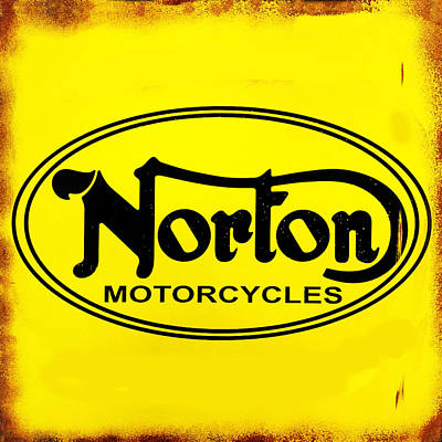 Vintage Photograph - Norton Motorcycles by Mark Rogan