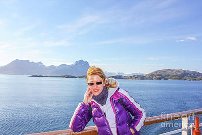 Photograph - Norway Cruise Ship Tourist by Benny Marty