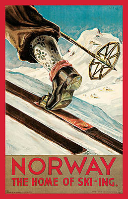 Ski Painting - Norway by Dagtin Anssen