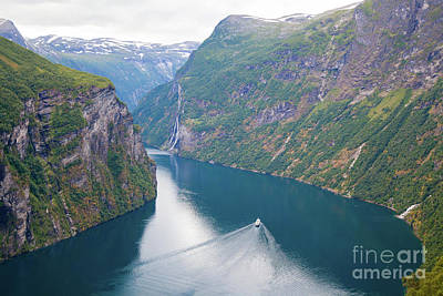 Photograph - Norway Geirangerfjord Stunning Fjord Landscape by Christy Woodrow