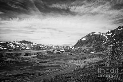 Photograph - Norway Landscape In Black And White by IPics Photography