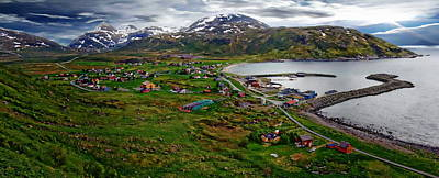 Photograph - Norway Landscape Panorama by Anthony Dezenzio