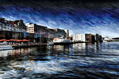 Photograph - Norway Waterfront by Bill Howard