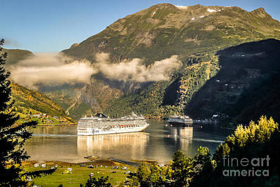 Photograph - Busy Morning At Geirangerfjord by Howard Ferrier