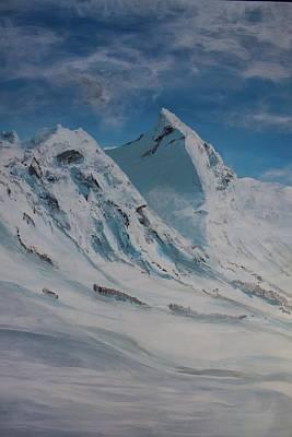 1295 Painting - Norwegian Alps Romedalstinden by John Storlid