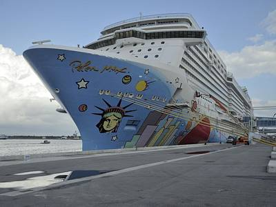 Photograph - Norwegian Breakaway At Terminal One by Bradford Martin