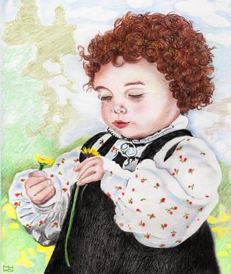 Drawing - Norwegian Child by Marilyn Hilliard