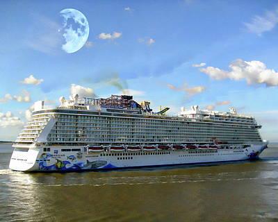 Photograph - Norwegian Cruise Ship by Anthony Dezenzio