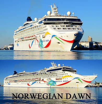 Photograph - Norwegian Dawn Photo Merge by David Lee Thompson