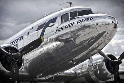 Dc-3 Plane Photograph - Norwegian Douglas D C-3 Aircraft by Daniel Hagerman