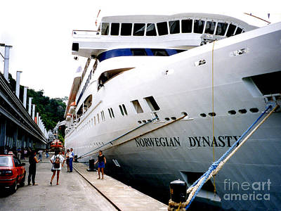 Photograph - Norwegian Dynasty Caribbean Cruise Ship  by Merton Allen