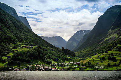 Photograph - Norwegian Fjord Village by KG Thienemann