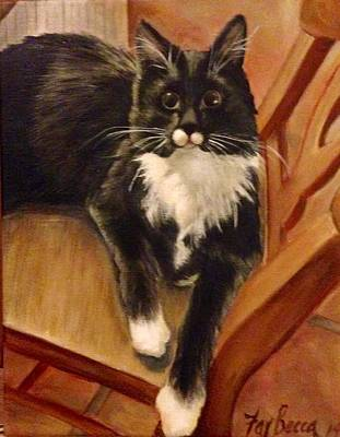 Painting - Norwegian Forest Cat by FayBecca Designs