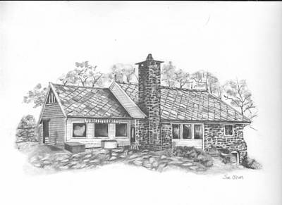 Pathways Drawing - Norwegian House by Sue Olson