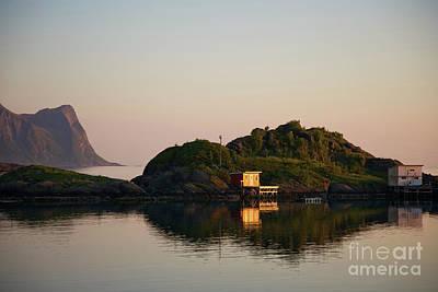 Photograph - Norwegian Island In Midsummer Light by Heiko Koehrer-Wagner