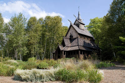 Photograph - Norwegian Stave Church by Joel Witmeyer
