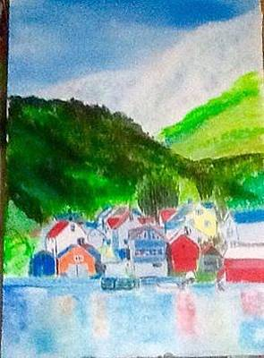 Painting - Norwegian View by Audrey Pollitt