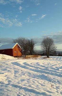 Digital Art - Norwegian Winter  by Jeanette Rode Dybdahl