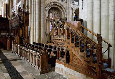 Photograph - Norwich Cathedral Interior  by Shirley Mitchell