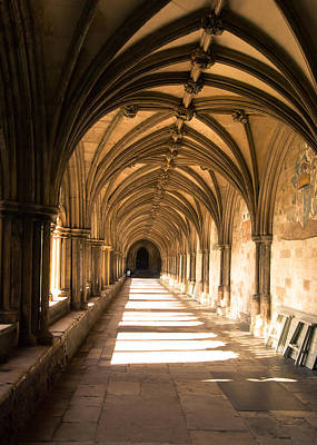 Photograph - Norwich Cathedral Portico  by Tom Potter