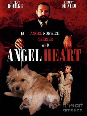 Painting - Norwich Terrier Art Canvas Print - Angel Heart Movie Poster by Sandra Sij