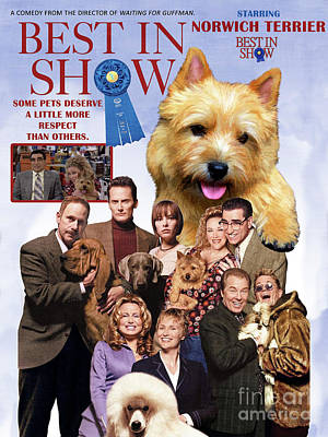 Painting - Norwich Terrier Art Canvas Print - Best In Show Movie Poster by Sandra Sij