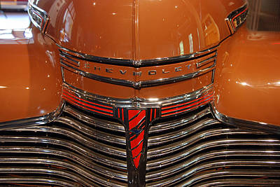 Photograph - Nose 1941 Chevy by John Schneider