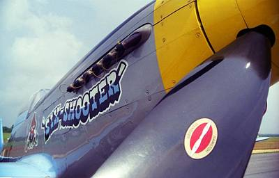 Photograph - Nose Art - Six Shooter by John Schneider