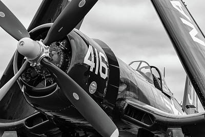 Photograph - Nose Of The Corsair - 2018 Christopher Buff, Www.aviationbuff.co by Chris Buff