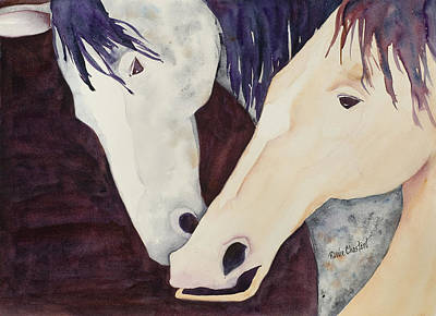 Nose To Nose II Art Print by Renee Chastant