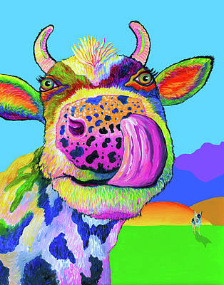 Painting - Nosey Cow by Nelson Dynan