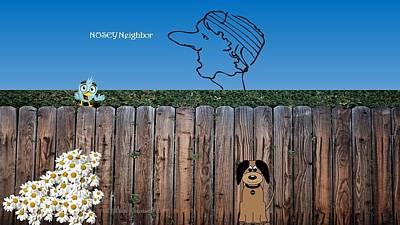 Big Pun Digital Art - Nosey Neighbor by Lj White