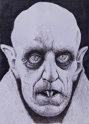 Nosferatu Drawing - Nosferatu by Kenny Noorlander