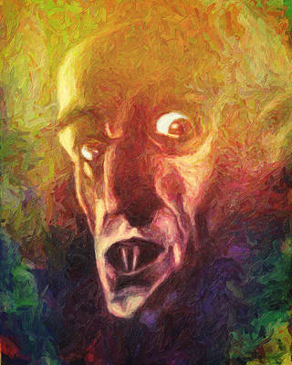 Painting - Nosferatu by Taylan Apukovska
